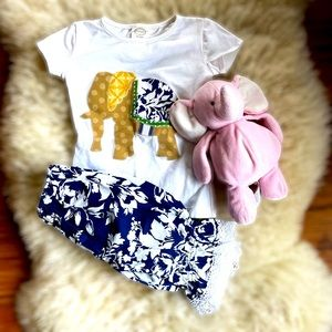 Persnickety Elephant Outfit Size 3T